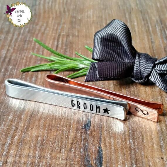 Dad Gift Gift For Him Tie Bar Best Man Groomsman Wedding Accessory Copper Custom Tie Bar Tie Clip Personalised Wedding Gift
