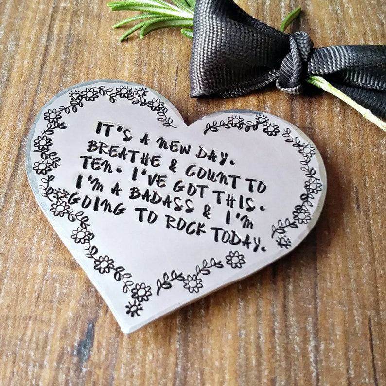 Fridge Magnet Positive Quotes Special Friend Hand Stamped Gifts,