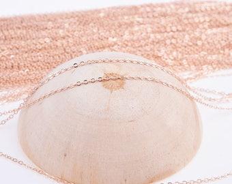 Rose gold chain, necklace chain, bulk chian, chian wholesale, O shape chain, rose gold necklace