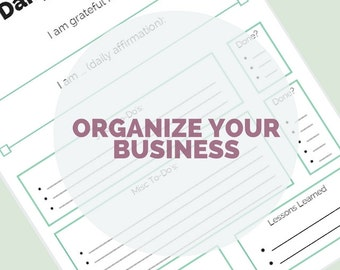 Weekly printable kit. Goal sheets. Printable daily planner. Project planner. Organize Your Online Business planner.