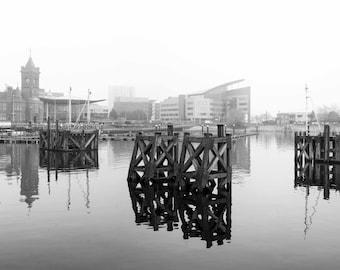 Cardiff Bay Foggy Reflections