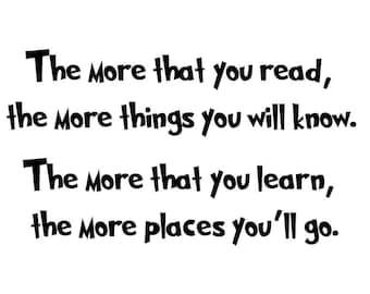 Dr Seuss Quote Etsy