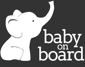 Baby on Board - Elephant