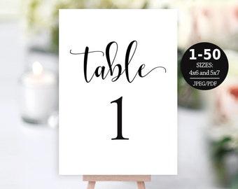 printable table numbers etsy