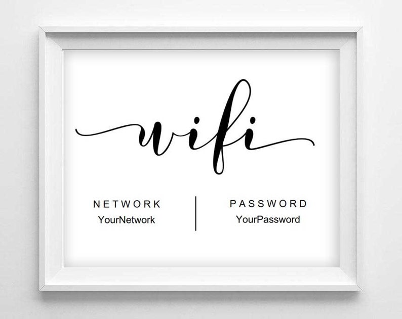 picture regarding Printable Wifi Sign referred to as WIFI Signal Printable - Wifi Pword - Editable Wifi Indication - Visitor House Website Signal - Editable PDF indication - Wifi Community - Immediate Downloa