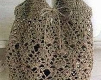 NEW!!  Art Couture Bag -- Hand Crochet -- Lace Tote