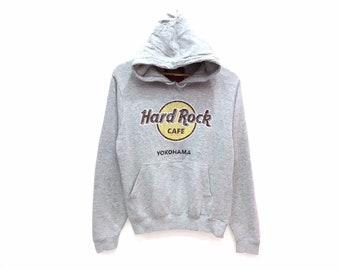 c6ec2b57 Hard Rock Cafe Yokohama Spellout Sweater Hoodie