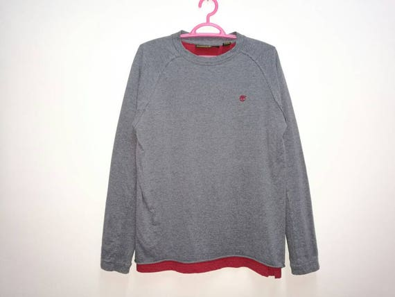 Rare!! Timberland Small Logo Embroidery Sweatshirt