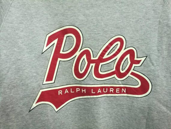Jumper Lauren Pullover Sweatshirt Ralph Polo Vintage Spellout Rare t1pYv