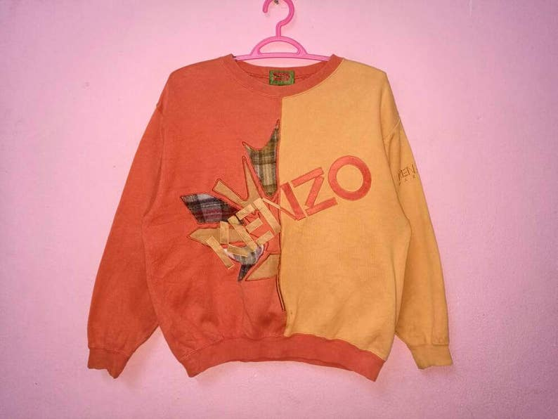 2a3c154df Rare Vintage Kenzo Golf Spellout Embroidery Pullover Jumper   Etsy