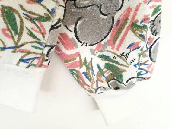 Multicolor Design Print Jumper Spellout Full Done Rare Koala Pullover Ken Art Australia 80s Sweatshirt Vintage qYfxT8P