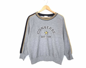 Rare!! Vintage Converse All Star Spellout Embroidery Pullover Jumper Sweatshirt