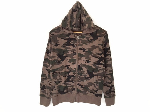 Rare!! Camouflage Pullover Jumper Sweater Hoodie Z