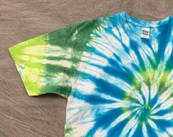 Tie Dye Shirt, Adult 2XL, Adult Tie Dye, 2XL Tie Dye, Aqua Shirt, Tye Dye Shirt, Unisex Tie Dye, Festival Shirt, Turquoise Shirt, T2X0526201