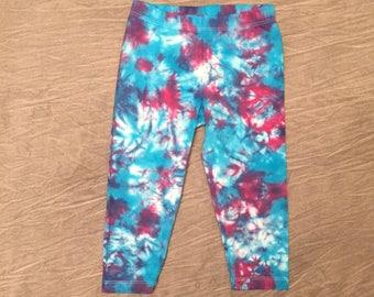 Colorful Leggings, Size 18-24m, Turquoise Leggings, Cute Baby Leggings, Tie-Dye Leggings, cute cotton leggings, Bright Leggings, C0417161