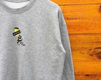 Bart Simpson cartoon sweatshirt L Size American Animation Television Walt Disney