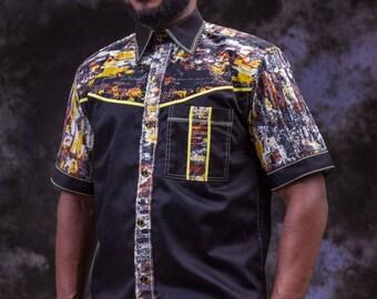 African Print Men's Shirt