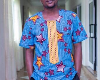 Ankara Embroidered Shirt