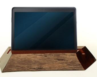 TB004 Live Edge Tablet Stand, Black Walnut
