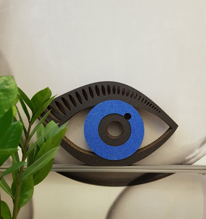 light double cardboard decorative element Eye Wall art hanging or resting