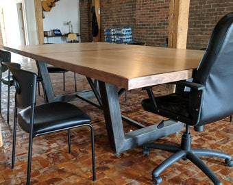 Boardroom Table Etsy - Modern industrial conference table