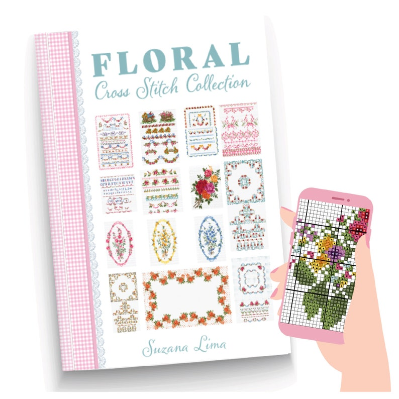 Floral Cross Stitch Pattern collection of more than 70 image 0