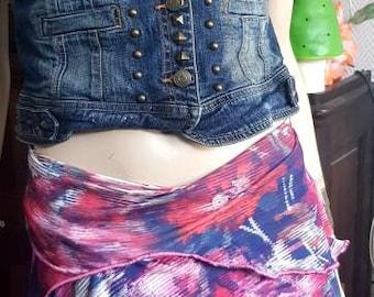 Short skirt, on skirt, stretch colored skirt