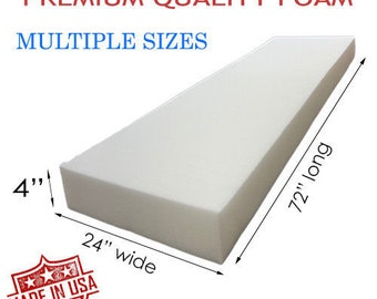 Upholstery Cushion Made in USA GoTo Foam 2 Height x 30 Width x 72 Length 44ILD Firm
