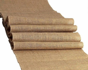 "ON SALE 100% Natural Chic Rustic Burlap Jute Table, Aisle Runners 12"" x 90"" - FREE Ship"
