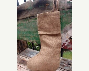ON SALE Burlap Jute Christmas Stockings, 16-inch, 6-pack (Natural) - FREE Shipping