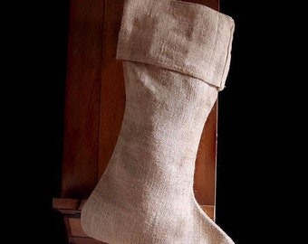 ON SALE Pack of 6 - Natural Burlap Christmas Stocking 24 inch - Free Shipping