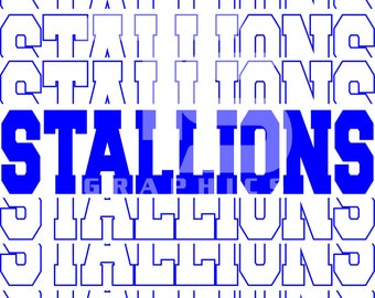 Stallions 5 SVG GRaphic