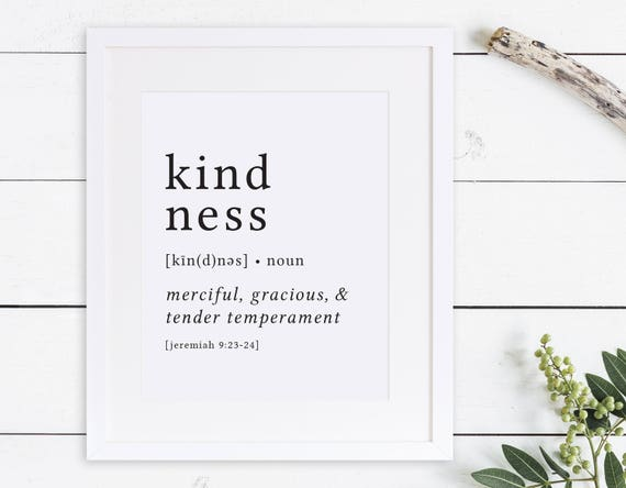 Kindness print definition print fruit of the spirit etsy image 0 stopboris Images