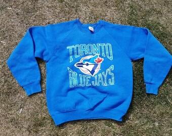 872370a59 Vintage Blue Jays Sweatshirt, 1988 Jays Sweatshirt, Toronto Blue Jays, Size  L