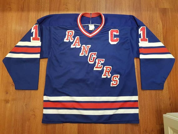 69bf2d06f Vintage Mark Messier New York Rangers Jersey Vintage NHL