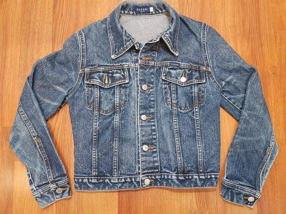 Vintage Guess Denim Jacket Vintage Denim Jacket Vintage Etsy