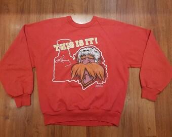 Lanny McDonald Sweatshirt, 80s Hockey Sweatshirt, Stanley Cup Champs, Flames Sweatshirt, Flames Sweater, Size M