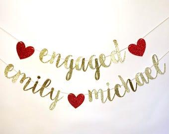 engagement banner etsy