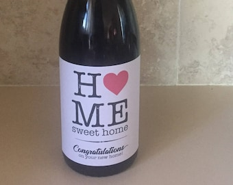New Home Wine Label, Housewarming Gift, Housewarming Part Wine Label, Personalized Wine Labels