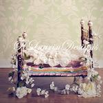 Princess and the Pea Newborn Digital Backdrop