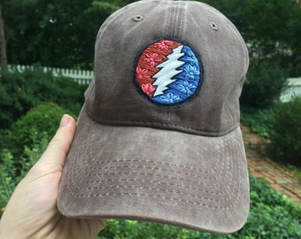 Grateful Dead Hat Hand Embroidered 3d51652f17d9