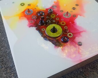 colorful contemporary modern industrial. ORIGINAL ART: 12\ Colorful Contemporary Modern Industrial D