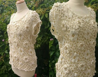 Crochet Irish Rose Top