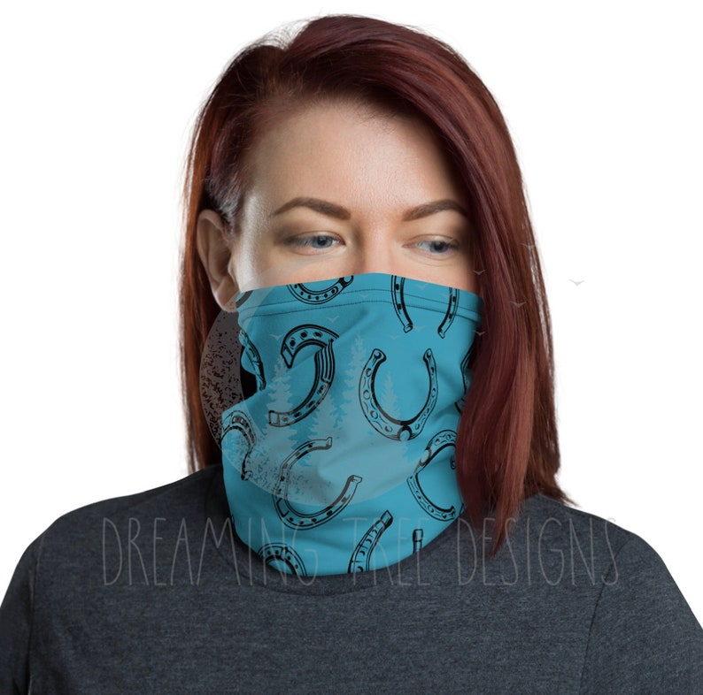 Equestrian design Neck Gaiter face mask head band image 0