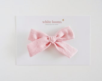 white ribbed and solid merlot Blushing Bows Set  : {4 bows} baby bow set rifle paper /& co rosa in natural pale pink