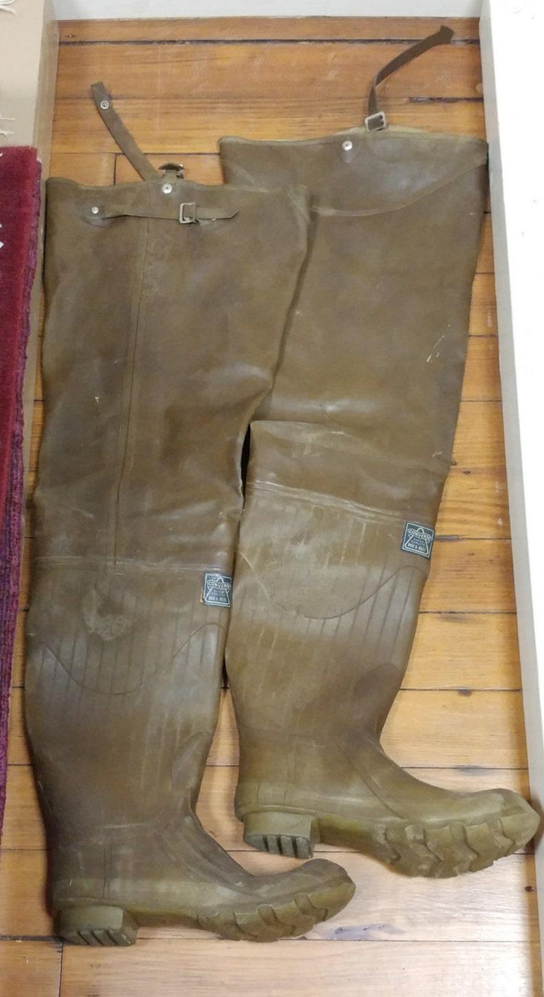 c79848a98e8b Converse Super Quality Rod   Reel Vintage Rubber Boots Size 8F