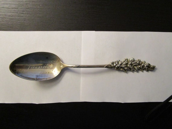 Antique Sterling Silver Collectible Spoon Pan-America Exposition 1901 Electric Tower by F.S Gilbert