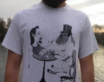 t Shirt 'I Like My Steak Rare' Design T Shirt handprinted England Tee Frank Morris Tee Top
