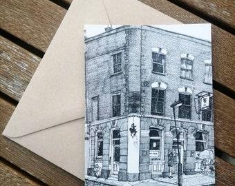 The Pineapple Pub Postcard, Kentish Town - North London