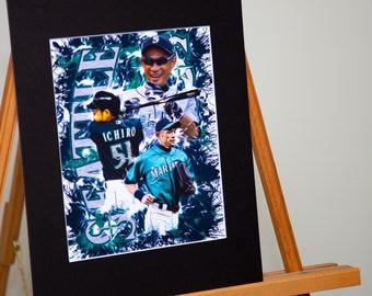 4cf057fa7 Seattle Mariners - Ichiro Suzuki #51 - Seattle Mariners - Custom Artwork  Available
